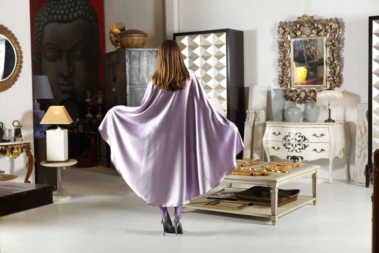 Capa Esfena malva de seda