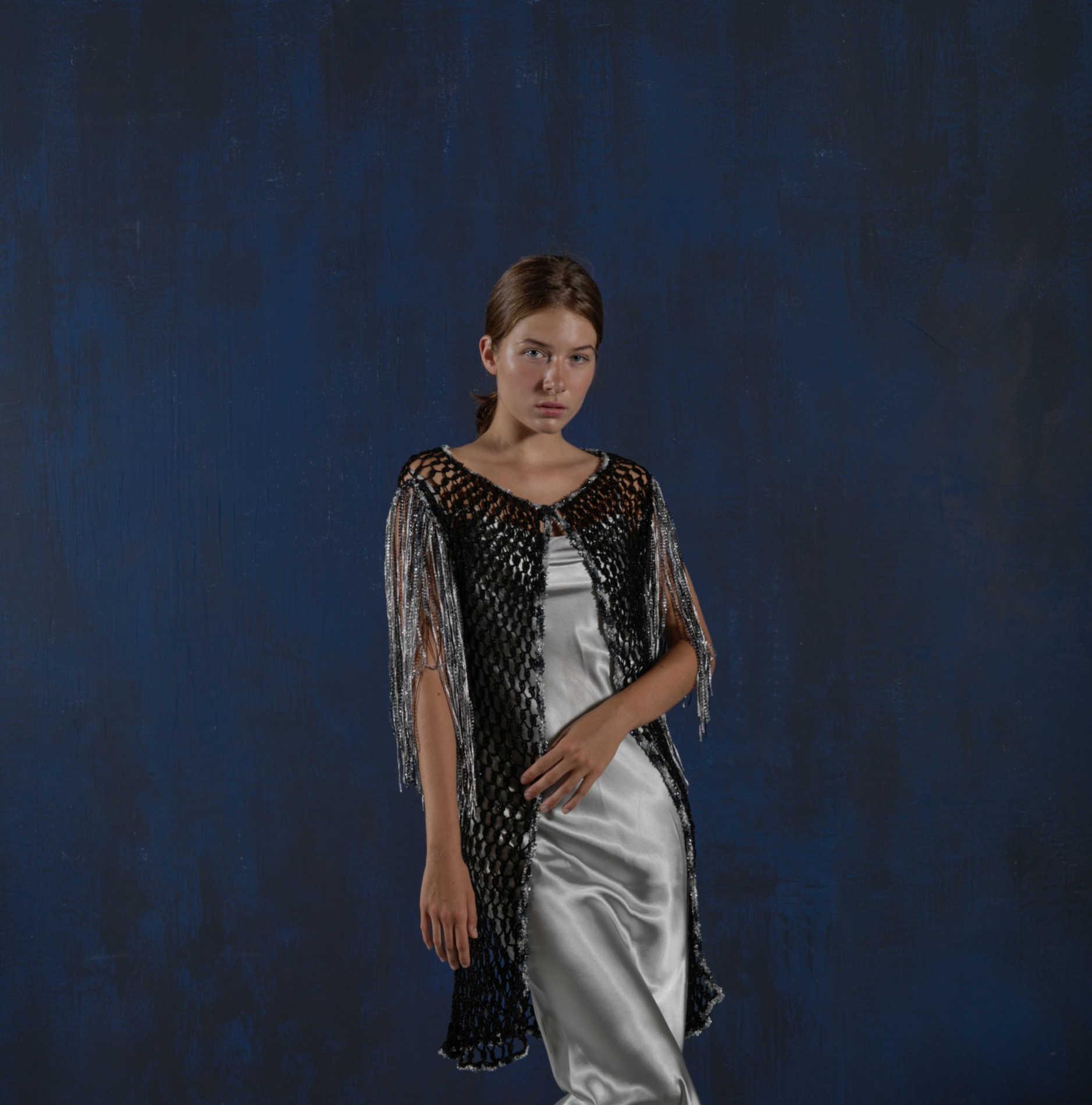 Capa crochet flecos Iria