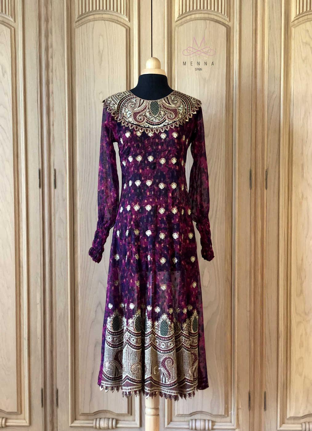 Vestido transparente Indira