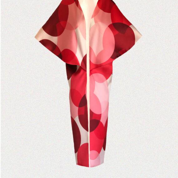 Kimono rojo circulos Menna Spain