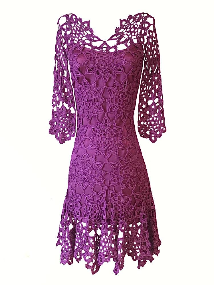 Vestido crochet Menna Spain