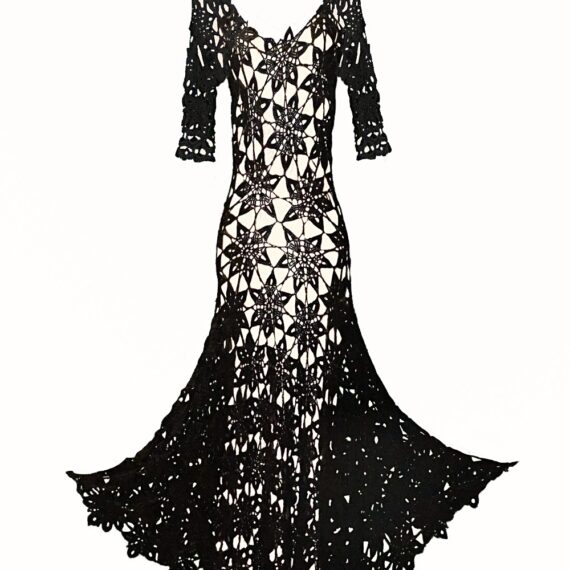 Vestido negro de hilo Menna Spain®