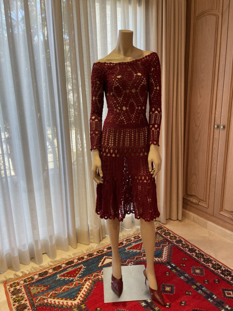 Vestido de hilo a crochet Menna Spain®