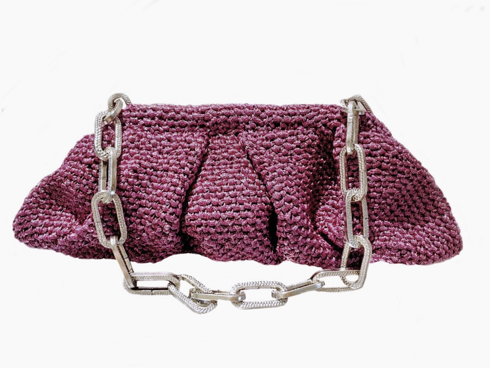 Bolso púrpura metalizado Menna Marbella